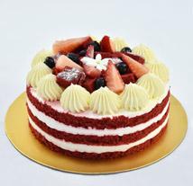 4 Portions Red Velvet Cake: Cakes