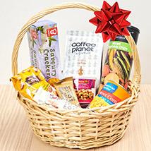 Coffee and Snacks Basket: Birthday Gift Ideas