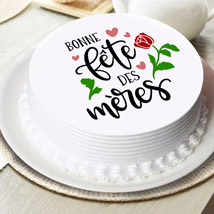 Half Kg french Mother Day Chocolate cake: Best Mother's Day Gifts