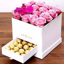 Hues Of Purple and Chocolates: 1 Hour Gift Delivery