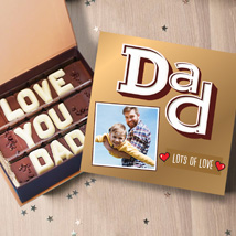 Love You Dad Personalised Chocolate Box: Personalised Gifts