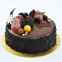 Half Kg Fudge Cake For Anniversary: Anniversary Gifts