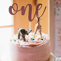 Cute Animals First Birthday Cake: Gifts for Kids