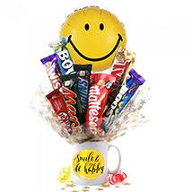Be Happy Balloon & Chocolates With Coffee Mug: Kids Gift Ideas